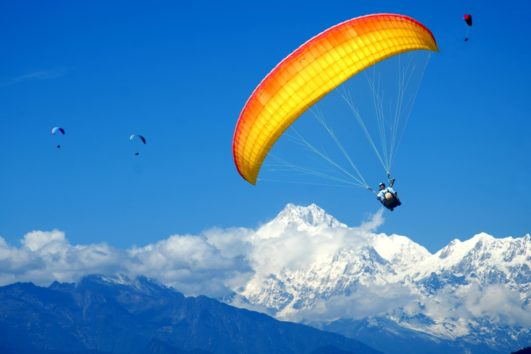 Paragliding Flight with Mountain View in Gangtok