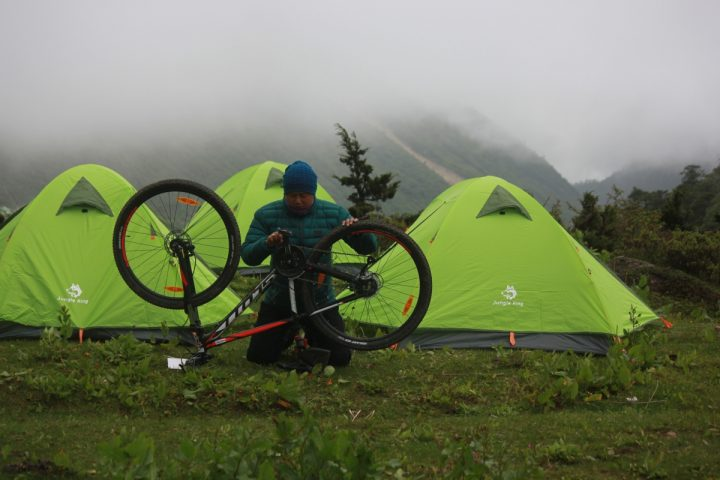 Riding and camping