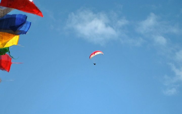 paragliding and lowland camping
