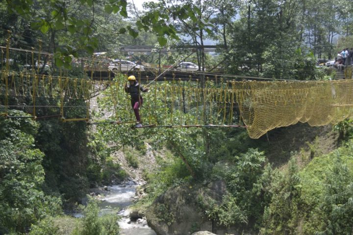 """If you don't take risks, you'll have a wasted soul."" try rope challenge activity in Gangtok"