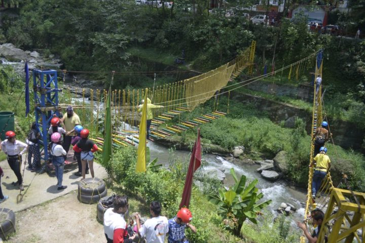 """Run towards adventure and not away from it!"" rope challenge course in Gangtok"