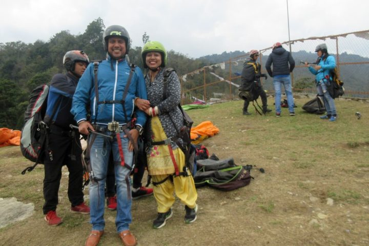 All smile for paragliding flight in Sikkim