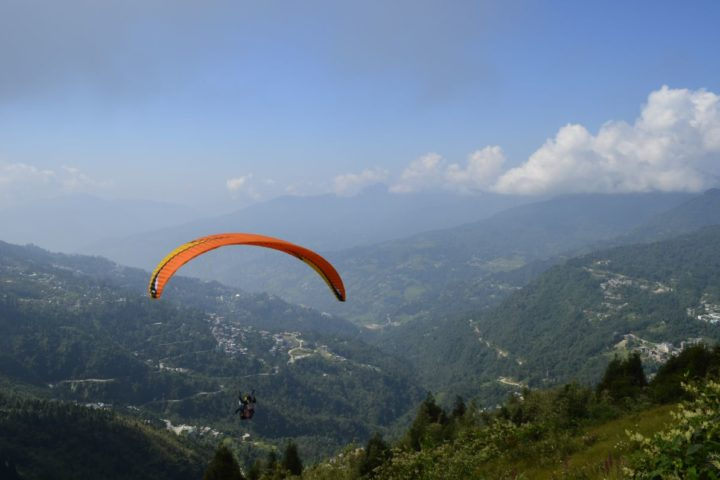 Best view from paragliding flight in Gangtok