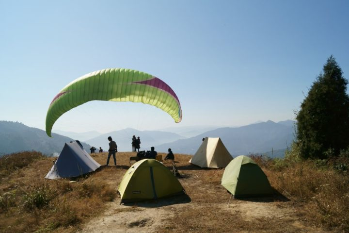 Camping and paragliding in Gangtok