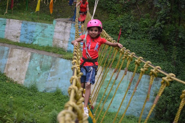Courage is very important.Like a muscle it is strengtened by use get daring at rope challange course at Gangtok