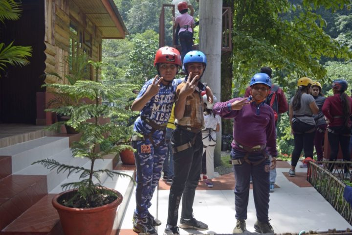 Excited for zipline in Gangtok