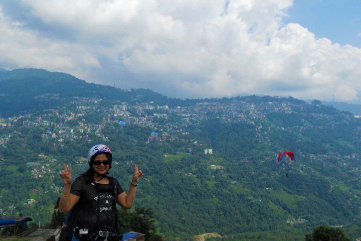 Excitement is in the air when paragliding in Gangtok