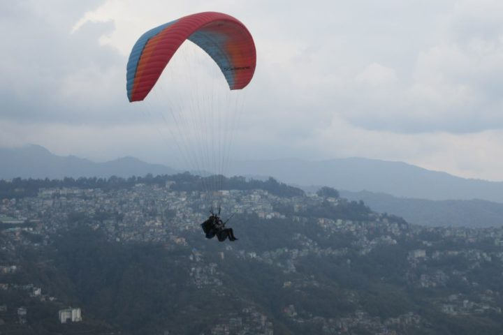 Paragliding view of Gangtok Town