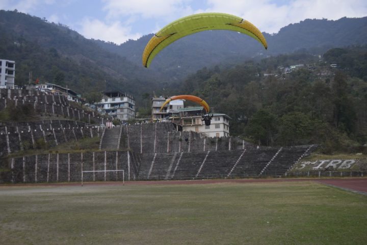 Million dollar paragliding landing zone in Sikkim