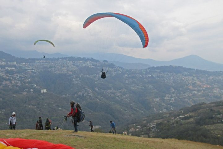 Paragliding in the skies of Gangtok