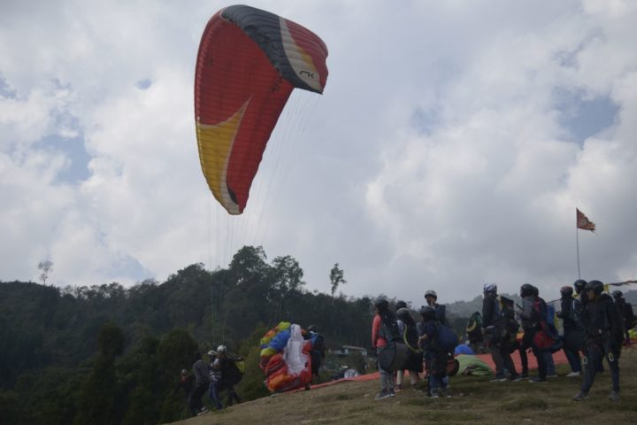 Takeoff site for paragliding in Gangtok