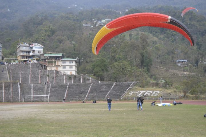 best paragliding landing zone in Sikkim
