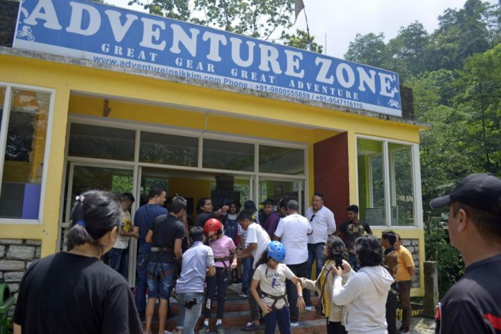rush hour at adventure in Sikkim