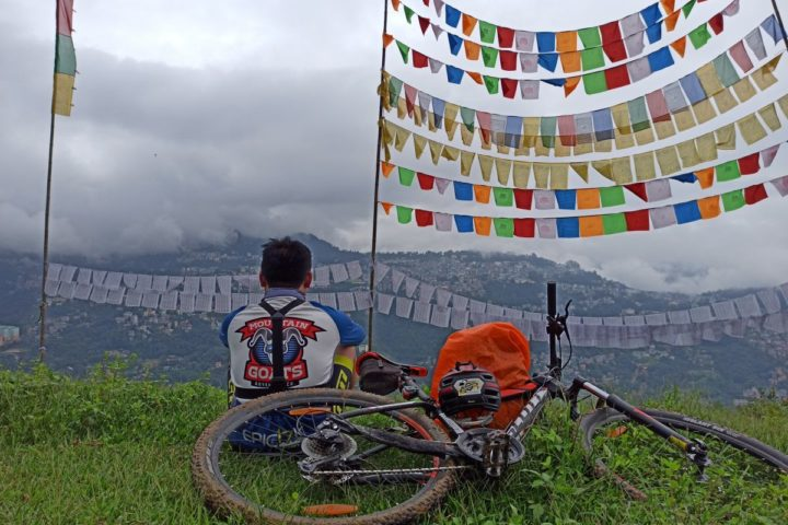 Mountain Biking in Gangtok,Sikkim.The best view comes after the hardest climb